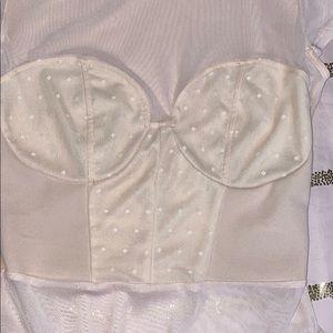 Fashion Nova Tops - Sheer Cream Top